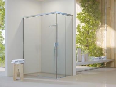 Sliding system for shower box PIUMA