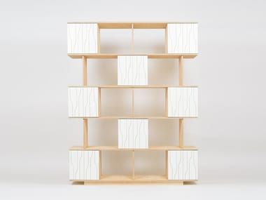 Open divider shelving unit with drawers PIX PATTERN DOORS | Shelving unit