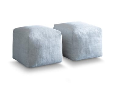 Square fabric pouf with removable lining PIXEL | Pouf