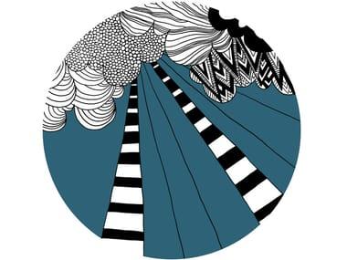 Round wool rug PLACE DES FÊTES | Round rug