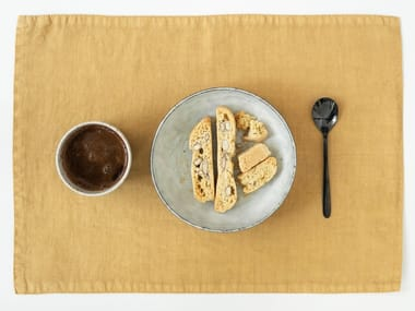 Rectangular linen placemat HONEY | Placemat
