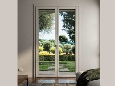 Aluminium and wood patio door PLANAR