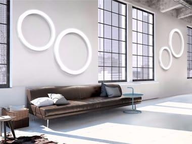 Aluminium wall lamp / ceiling lamp SILVER RING | Wall lamp
