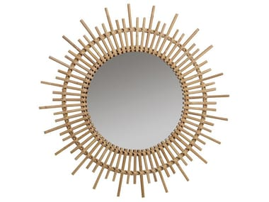 Round wall-mounted framed mirror PLANÈTE | Mirror