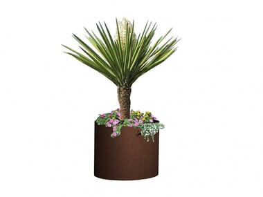 Round custom metal Flower pot PLANTER I