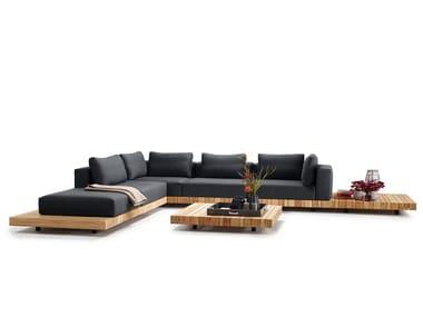 Teak garden sofa PLATEAU | Corner garden sofa