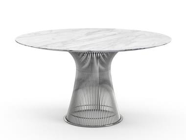 Tavolo rotondo in marmo e acciaio PLATNER   Tavolo