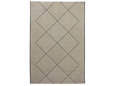Handmade rectangular wool rug PLATONICO