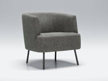 Fabric easy chair with armrests PLAY FUNK | Fabric easy chair