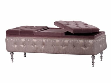 Tufted storage upholstered fabric bench PLEIADI LOUNGE | Bench