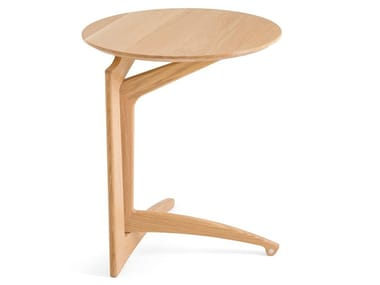 Folding solid wood side table PLÉILU H63