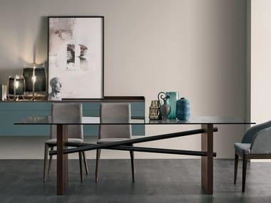 Glass table PLINTO