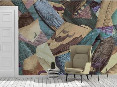 Motif Ecological nonwoven wallpaper PLUMAGES
