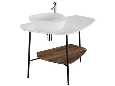 Floor-standing ceramic vanity unit PLURAL | Ceramic vanity unit