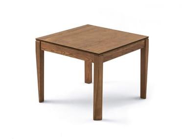 Tavolo allungabile da salotto quadrato PLURIMO | Tavolo in legno impiallacciato