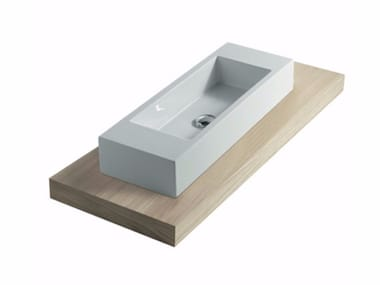 Wooden washbasin countertop PLUS DESIGN 128 | Washbasin countertop
