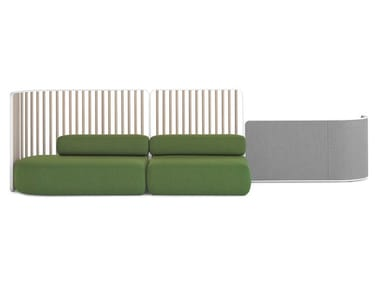 Modular fabric sofa with removable cover PLUS | Modular sofa