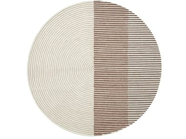 Round wool rug PLY PINK