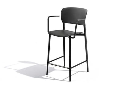 High polypropylene stool with armrests PLY | Stool with armrests