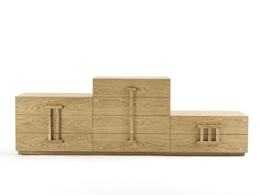 Solid wood chest of drawers PODIO