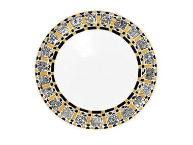 Ceramic dinner plate POEM