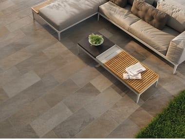Pavimento per esterni in gres porcellanato effetto pietra POINT GREY MULTICOLOR