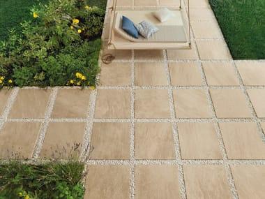 Pavimento per esterni in gres porcellanato effetto pietra POINT SAND