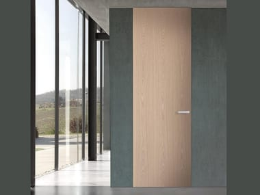 Hinged flush-fitting wooden door POLARIS