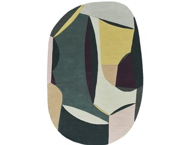 Oval wool rug POLIA SHAPE