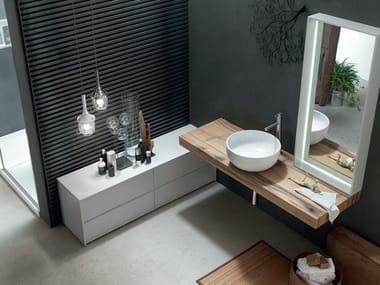 Washbasin countertop / bathroom cabinet POLLOCK YAPO - COMPOSITION 54