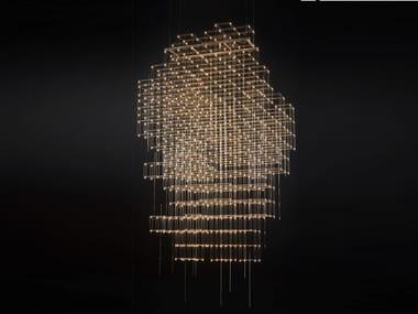 LED metal pendant lamp POLLUX