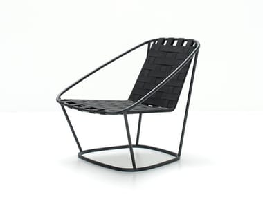 Steel and elastic strapes garden armchair ARMCHAIR