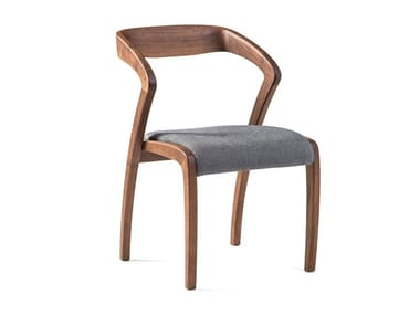 Walnut chair with armrests POLY | Walnut chair