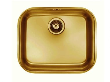 Single built-in stainless steel sink POND