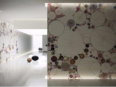 Carta da parati geometrica lavabile in vinile POND