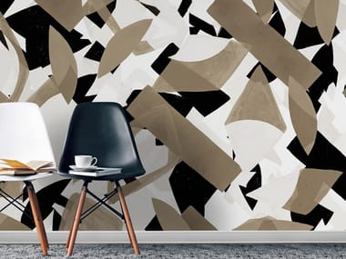 Papel de parede ecológico lavável livre de PVC estilo industrial POP AGANDA
