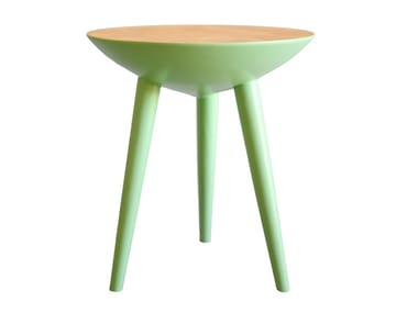 Low wooden stool POP S | Low stool