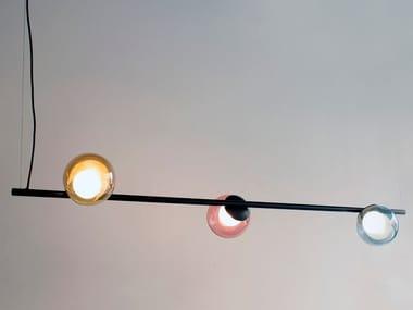 Handmade metal and glass pendant lamp POP S3