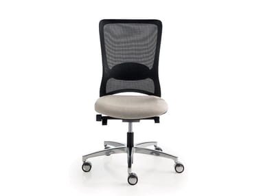 Mesh task chair with 5-Spoke base with castors POP | Task chair