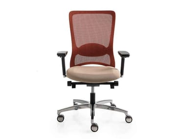 Mesh task chair with 5-Spoke base with armrests with castors POP | Task chair with armrests