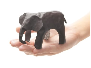Imitation leather decorative object POP UP ANIMAL ELEPHANT