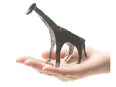 Imitation leather decorative object POP UP ANIMAL GIRAFFE