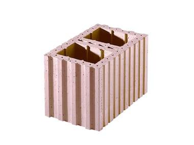 Thermal insulating clay block Porotherm PLAN Cassero