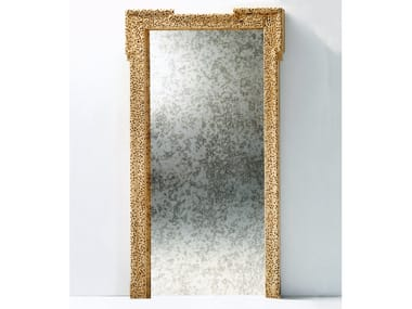 Freestanding rectangular framed wood and glass mirror PORTA SPECCHIO
