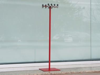 Floorstanding steel umbrella stand 8 places umbrella stand with padlocks