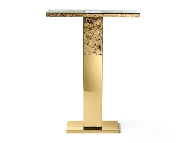 Stainless steel console table with light PORTO