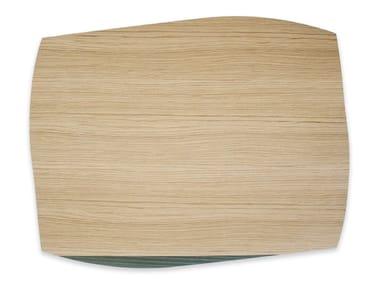 Tovaglietta rettangolare in legno PORTOFINO OAK DARK GREEN ASH | Tovaglietta rettangolare