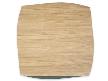 Tovaglietta quadrata in legno PORTOFINO OAK DARK GREEN ASH   Tovaglietta quadrata