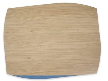 Tovaglietta rettangolare in legno PORTOFINO OAK LIGHT BLUE TAY | Tovaglietta rettangolare