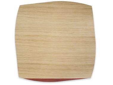 Tovaglietta quadrata in legno PORTOFINO OAK RED BRICK TULIPIÈ | Tovaglietta quadrata